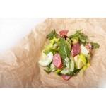 Салат по-деревенски с колбасками