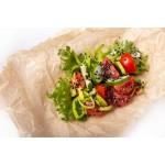 Салат из свежих овощей с семенем льна
