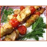 Кебаб из куриной грудки с помидорами